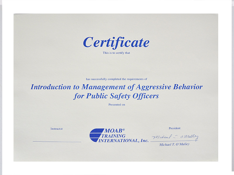 MOAB Introduction to Preventing and Diffusing Aggressive Behavior ...